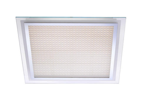 LED-DECKENLEUCHTE - Chromfarben, LIFESTYLE, Glas/Metall (56,5/56,5/7,3cm)