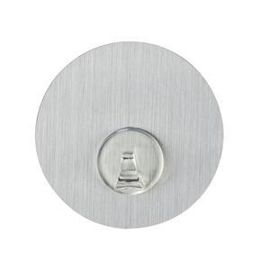 VÄGGKROK - rostfritt stål-färgad, Basics, plast (8,5/2cm)