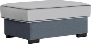 HOCKER in Textil Grau, Weiß - Braun/Weiß, ROMANTIK / LANDHAUS, Kunststoff/Textil (101/45/69cm) - Hom`in