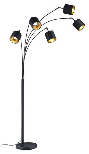BÖJD LAMPA - svart/guldfärgad, Lifestyle, metall/textil (200cm)