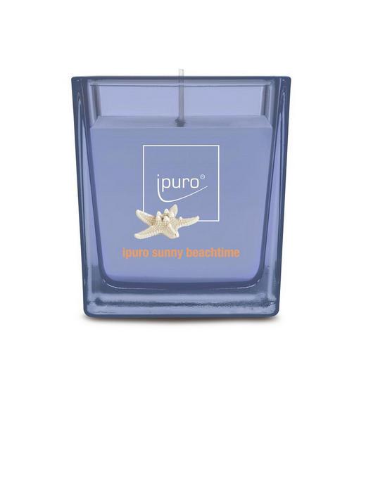 KERZE IM GLAS - Lila, Basics, Glas (7/7/6,3cm) - Ipuro