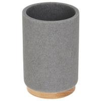 KELÍMEK - šedá/hnědá, Basics, dřevo/umělá hmota (6,9/10,2/6,9cm) - Sadena