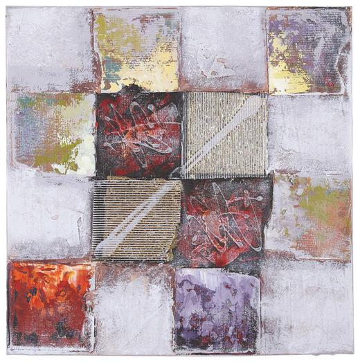 Abstraktes, Strukturen ÖLGEMÄLDE - Multicolor/Naturfarben, Basics, Holz/Textil (60/60cm) - MONEE