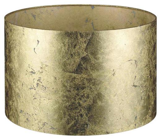 LEUCHTENSCHIRM  Goldfarben  Kunststoff - Goldfarben, LIFESTYLE, Kunststoff (40/25cm)