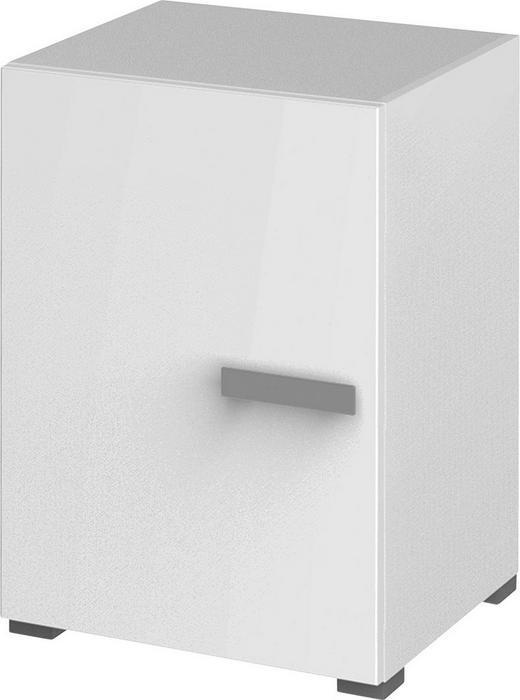 SCHRANK melaminharzbeschichtet Weiß - Alufarben/Weiß, Basics, Holzwerkstoff/Metall (50/72,80/44cm) - Xora