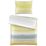 BETTWÄSCHE 140/200 cm - Gelb/Weiß, Design, Textil (140/200cm) - NOVEL
