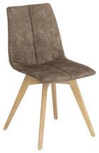 STUHL Eiche massiv Sandfarben - Sandfarben, Design, Holz/Textil (47/87/52cm) - NOVEL