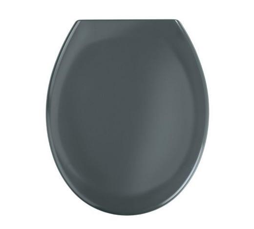 WC-SITZ Dunkelgrau  - Dunkelgrau, Basics, Kunststoff (37,6/45,2cm)