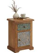 KOMODA - přírodní barvy/vícebarevná, Trend, kov/dřevo (43/60/32cm) - Ambia Home