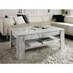 COUCHTISCH in Holzwerkstoff 110/65/47 cm  - Weiß/Grau, Design, Holzwerkstoff (110/65/47cm) - Carryhome
