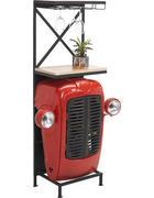 BAR naravna, rdeča, črna  - naravna/rdeča, Trend, kovina/les (52/153/36cm) - Ambia Home