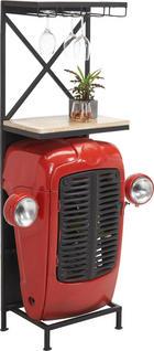 BAR, černá, červená, přírodní barvy - šedá/černá, Trend, kov/dřevo (52/153/36cm) - Ambia Home