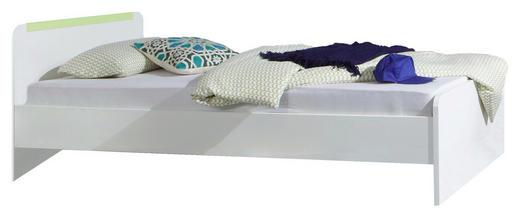 BETT 90/200 cm - Weiß/Grün, Design, Holz (90/200cm) - CARRYHOME