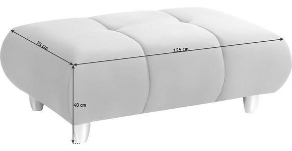 HOCKER in Textil Braun - Chromfarben/Braun, Design, Kunststoff/Textil (125/40/75cm) - Hom`in