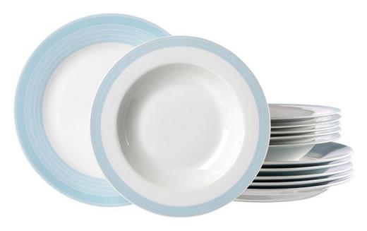 Porzellan  TAFELSERVICE  12-teilig - Weiß/Hellblau, Basics, Keramik (26/21/26cm) - Ritzenhoff Breker