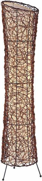 STEHLEUCHTE - Creme/Braun, KONVENTIONELL, Holzwerkstoff/Textil (25/120cm)