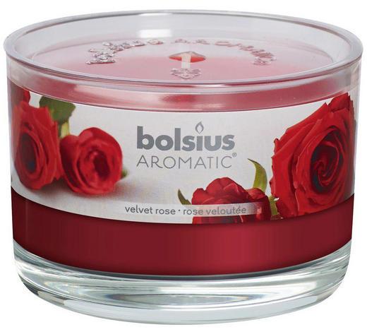 DUFTKERZE Rose - Klar/Rot, Basics, Glas (9/6,3cm) - Bolsius