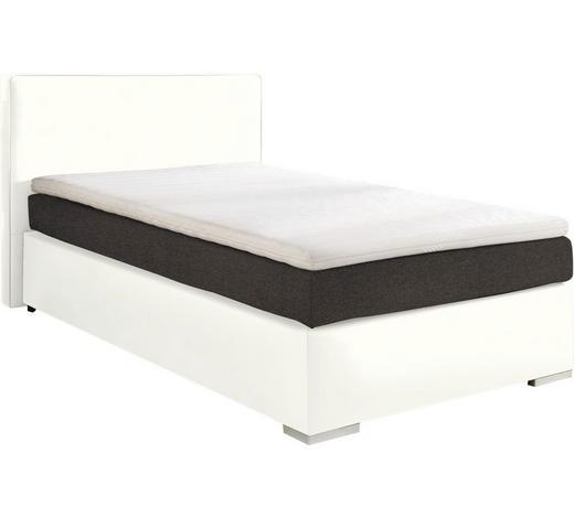 BOXSPRINGBETT  in Grau, Weiß  - Alufarben/Weiß, KONVENTIONELL, Kunststoff/Textil (140/200cm) - Esposa