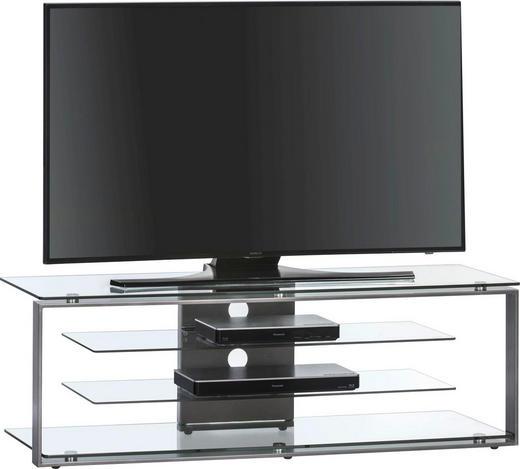TV-RACK Glas, Metall Anthrazit - Anthrazit, Design, Glas/Metall (130/42/40cm)