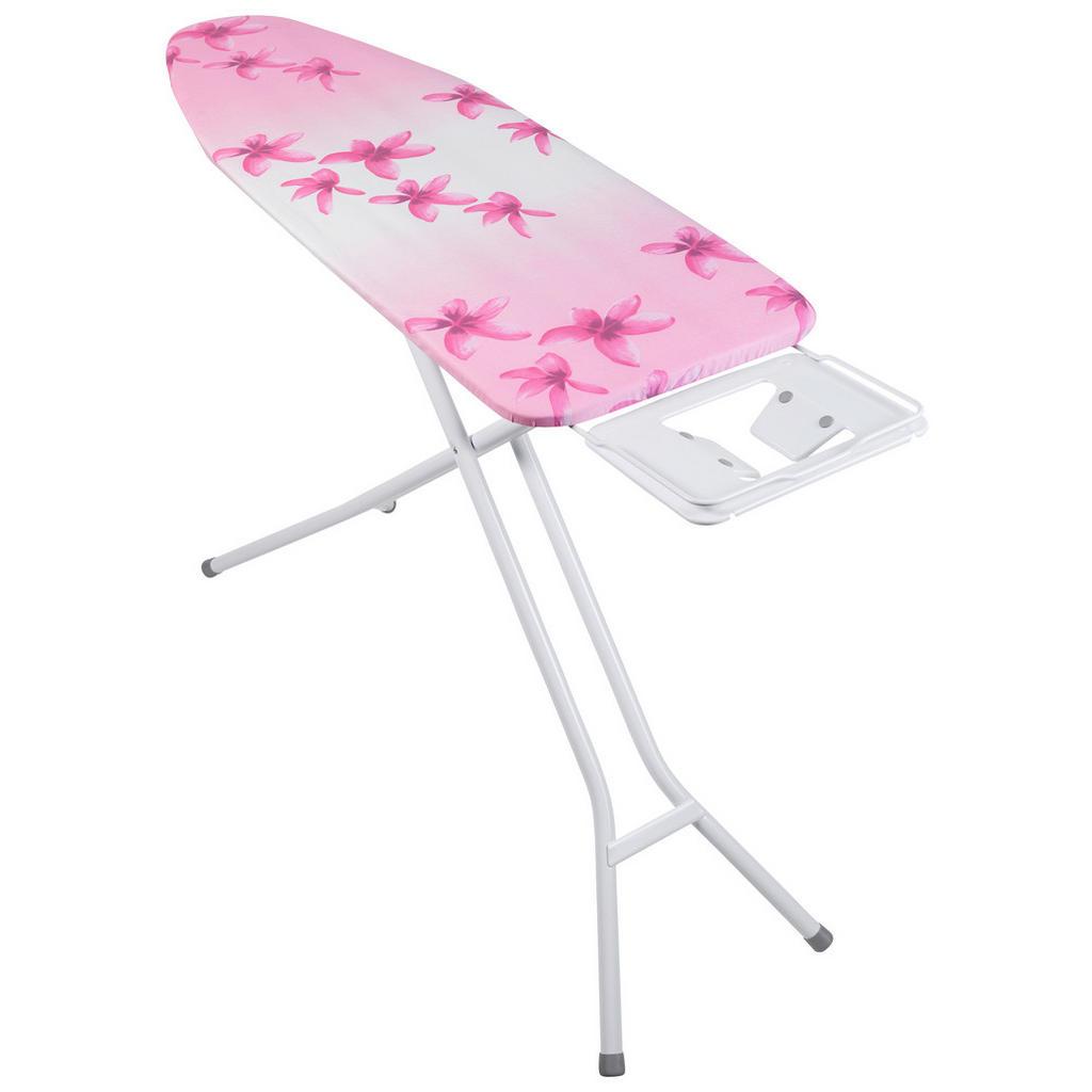 Image of Homeware Bügelbrett , A135l08w Petoli Rose , Multicolor, weiss , Metall , Blume , 41x95x140 cm , Bügeleisenablage , 0082880004