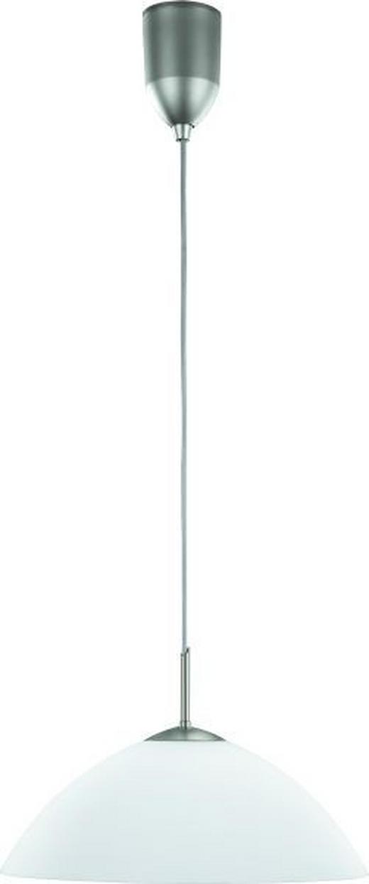 HÄNGELEUCHTE - Weiß, KONVENTIONELL, Glas/Metall (150cm)