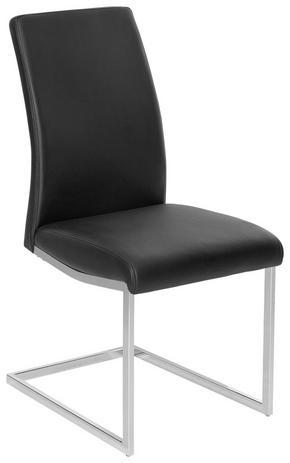 SVIKTSTOL - kromfärg/svart, Design, metall/textil (45/96/58,5cm) - Xora