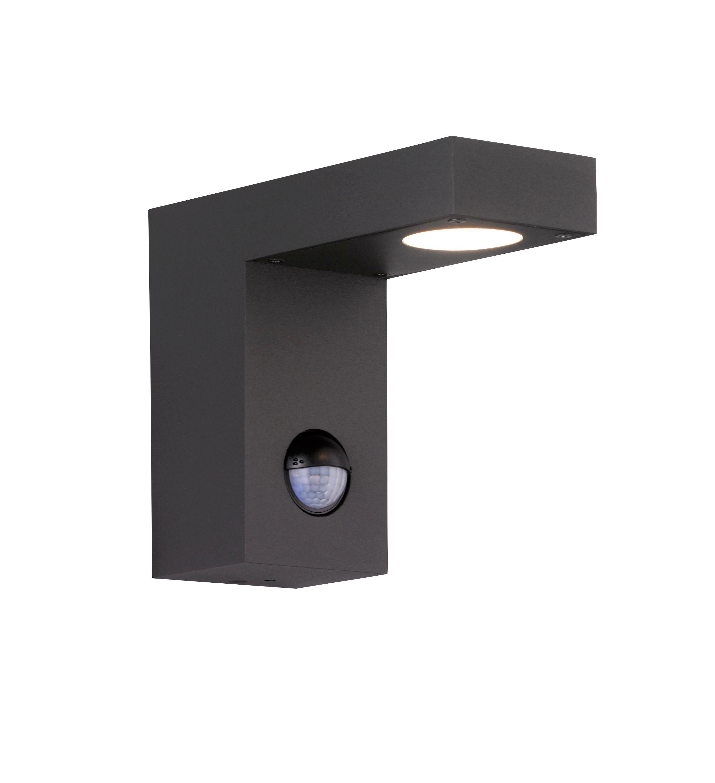 AUßENLEUCHTE - Anthrazit, Design, Metall (12/6/15cm)