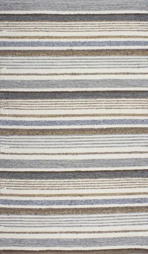 HANDWEBTEPPICH  70/130 cm  Braun, Grau - Braun/Grau, KONVENTIONELL, Textil (70/130cm) - Linea Natura