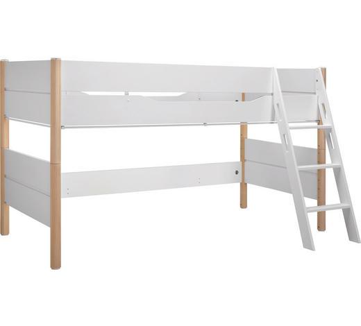 SPIELBETT - Birkefarben/Weiß, Design, Holz/Holzwerkstoff (90/200cm) - Paidi