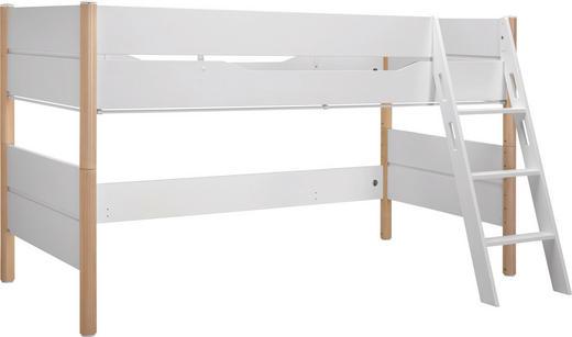 SPIELBETT 90/200 cm Birkefarben, Weiß - Birkefarben/Weiß, Design, Holz (90/200cm) - Paidi
