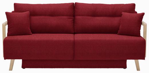 SCHLAFSOFA Rot - Rot/Naturfarben, KONVENTIONELL, Holz/Textil (200/92/95cm) - Venda