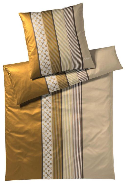 BETTWÄSCHE Makosatin Gelb, Goldfarben, Schwarz 155/220 cm - Gelb/Goldfarben, Basics, Textil (155/220cm) - Joop!
