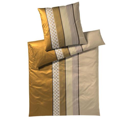 BETTWÄSCHE Makosatin Gelb, Goldfarben 135/200 cm - Gelb/Goldfarben, Basics, Textil (135/200cm) - Joop!
