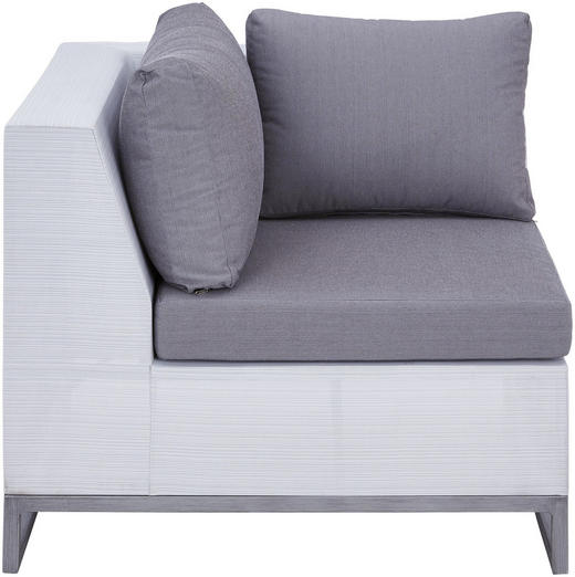 LOUNGEECKTEIL - Weiß/Grau, Design, Textil/Metall (87,5/70,5/87,5cm) - Ambia Garden