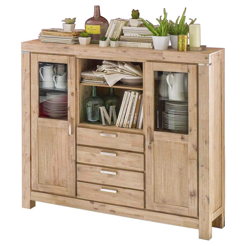 Akazienholz-Highboard
