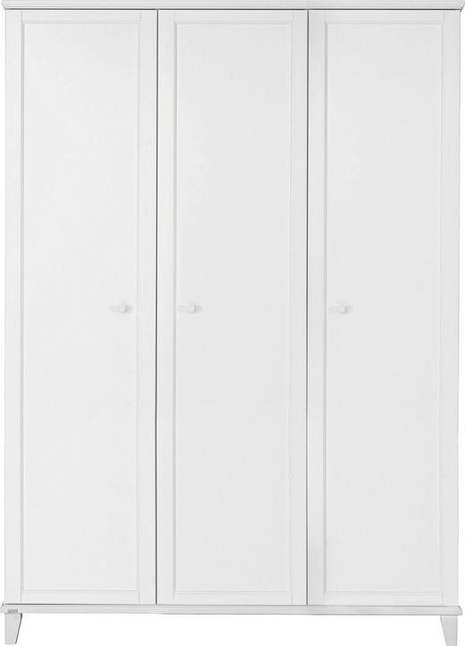 KLEIDERSCHRANK 3-türig Weiß - Weiß, Basics, Holzwerkstoff/Kunststoff (144,3/200,1/56,6cm) - Paidi