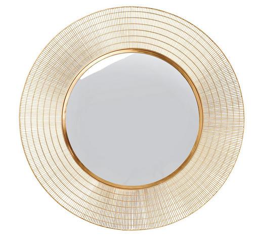 WANDSPIEGEL 90/90/2 cm - Goldfarben, Trend, Glas/Metall (90/90/2cm)