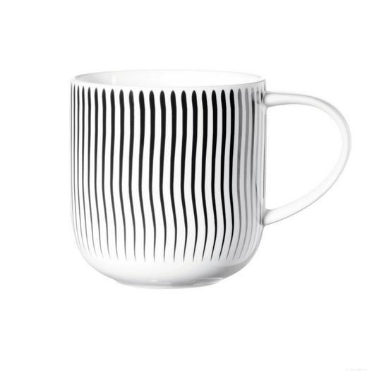 KAFFEEBECHER - Schwarz/Weiß, Basics, Keramik (9,2/9,5cm) - ASA