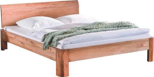 BETT Eiche massiv - Eichefarben, Design, Holz (140/200cm) - Hasena
