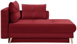 LIEGE in Textil Rot  - Eichefarben/Rot, KONVENTIONELL, Holz/Textil (166/96/104cm) - Venda