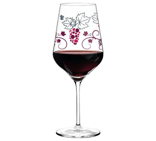 ROTWEINGLAS - Platinfarben/Rot, Design, Glas (10/10/25cm) - Ritzenhoff