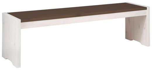 SITZBANK Kiefer massiv Dunkelbraun, Weiß - Dunkelbraun/Weiß, Design, Holz (160/48/40cm) - Carryhome