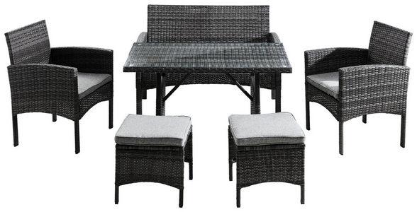 BAŠTENSKI SET - Siva, Moderno, Tekstil/Plastika (112/78/60cm) - Ambia Garden