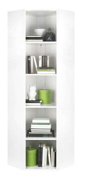 HÖRNHYLLA - vit/svart, Design, träbaserade material/plast (59,5/192/59,5cm) - Carryhome