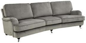 SOFFA - alufärgad/ljusgrå, Lifestyle, metall/textil (246/84/106cm) - Lerche Home