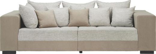 BIGSOFA Webstoff Grau - Schwarz/Grau, Design, Holz/Textil (260/82/112cm) - Carryhome