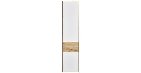 SCHRANK in Weiß, Eichefarben  - Eichefarben/Weiß, Design, Glas/Holz (47/205,5/40cm) - Valnatura