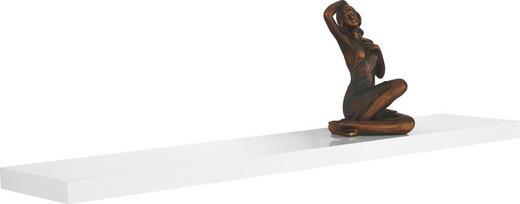WANDBOARD Weiß - Weiß, Design (118/23,5/3,8cm)