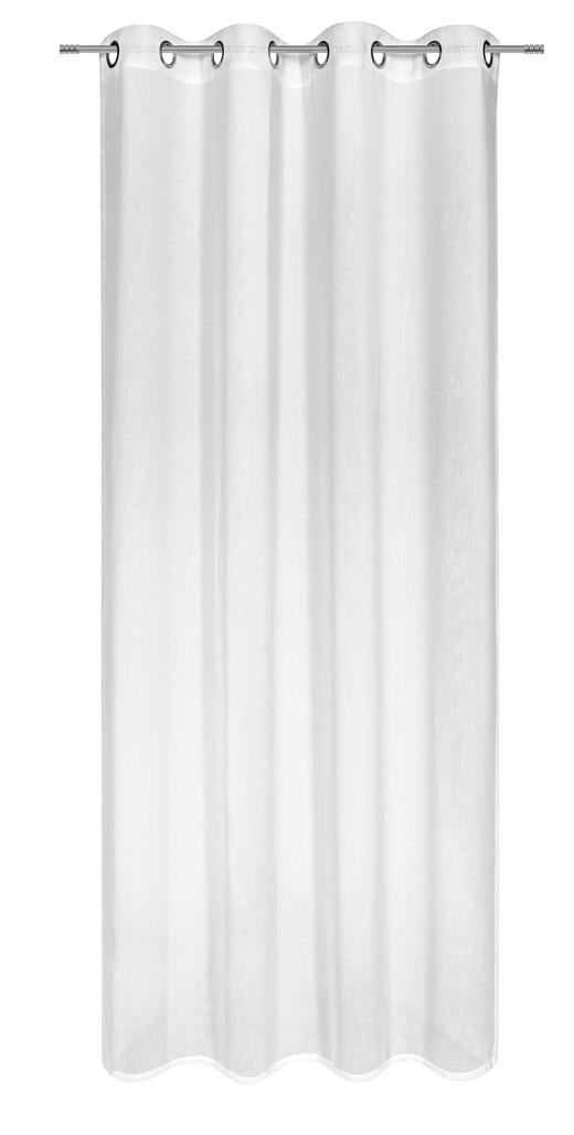 ÖSENVORHANG halbtransparent - Weiß, Basics, Textil (135/245cm) - Boxxx