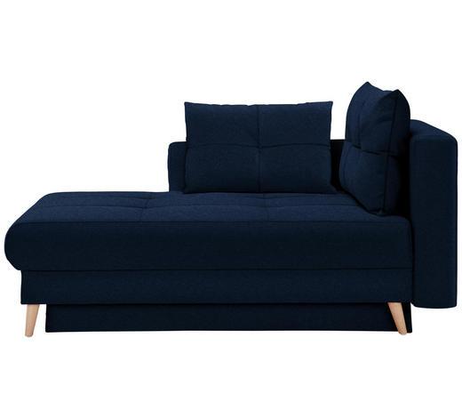 LIEGE in Textil Blau - Blau/Eichefarben, KONVENTIONELL, Holz/Textil (166/96/104cm) - Venda